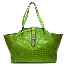 Poseta dama, din piele naturala, marca Meralli, culoare verde - Geanta Dama Meralli, Geanta de umar