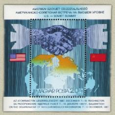Ungaria 1987 - USA-URSS SUMMIT, colita neuzata