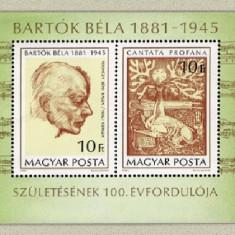 Ungaria 1981 - Bartok Bela, colita neuzata - Timbre straine