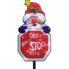 Decoratiuni de Craciun, Santa please stop here - Ornamente Craciun