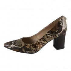 Pantofi dama, din piele naturala, marca Botta, culoare bej, marimea 36