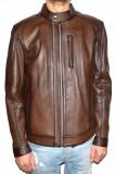 Haina barbati, din piele naturala, marca Kurban, culoare maro, marimea 5XL, XL