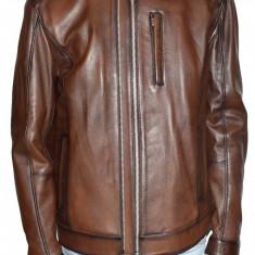 Haina barbati, din piele naturala, marca Kurban, culoare maro, marimea 5XL - Geaca barbati