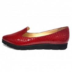 Balerini dama, din piele naturala, marca Botta, culoare rosu, marimea 40