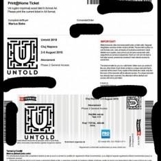 Bilet untold 2018 4 zile - Bilet concert