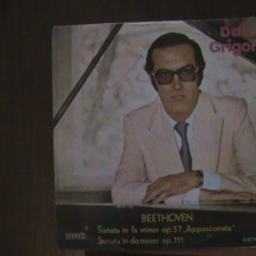 "BEETHOVEN - Sonatele ""Appassionata""23 OP. 57 & 32 OP. 111, Dan Grigore, D. vinil - Muzica Clasica Melodia"