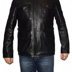 Haina barbati, din piele naturala, marca Kurban, culoare negru, marimea 5XL - Geaca barbati