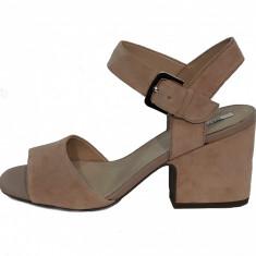 Sandale dama, din piele naturala, marca Geox, culoare taupe, marimea 38