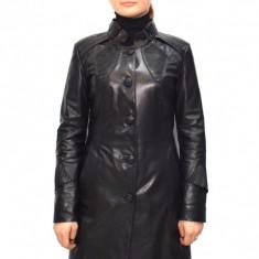 Haina dama dama piele, din piele naturala, marca Kurban, culoare negru, marimea M - Geaca dama