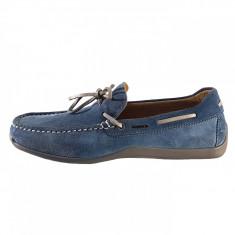 Pantofi eleganti barbati, din piele naturala, marca Geox, culoare bleo, marimea 40 - Mocasini barbati Geox, Bleu