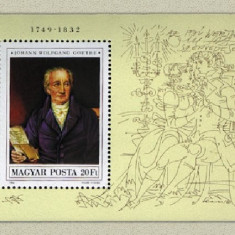 Ungaria 1982 - Goethe, colita neuzata - Moneda Medievala