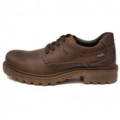 Pantofi barbati, din piele naturala, marca Marc, culoare maro, marimea 40, Casual