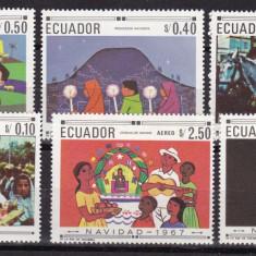 Ecuador 1967 obiceiuri populare MI 1392-97 MNH w49 - Timbre straine, Nestampilat