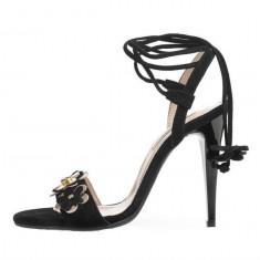 Sandale dama, din piele naturala, marca Botta, culoare negru, marimea 36