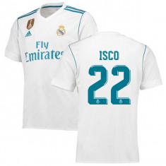 TRICOU REAL MADRID, 22 ISCO model NOU 2017-1018 - Echipament fotbal, Marime: XL, L, M, S, XS, Tricou fotbal