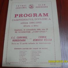 Program Corvinul Hd. - Chimia Rm. Vilcea - Program meci