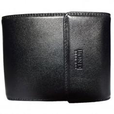 Portofel barbati, din piele naturala, marca Bond, culoare negru