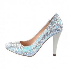 Pantofi dama, din piele naturala, marca Botta, culoare multicolor, marimea 36 - Pantof dama Botta, Cu toc