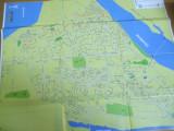 Galati 2001 orasul judetul harta color 65 x 55 cm