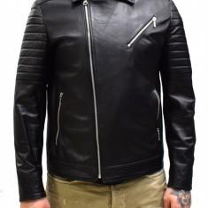 Haina barbati, din piele naturala, marca Kurban, culoare negru, marimea XXL - Geaca barbati