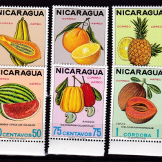 Nicaragua 1968 fructe MI 1469-1478 MNH w49 - Timbre straine, Nestampilat