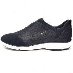 Pantofi sport dama, din piele naturala, marca Geox, culoare negru, marimea 40