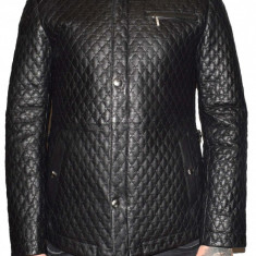 Haina barbati, din piele naturala, marca Kurban, culoare negru, marimea XL - Geaca barbati