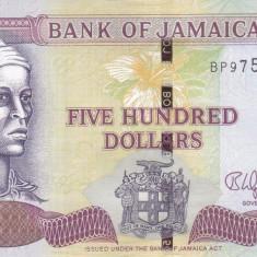 Bancnota Jamaica 500 Dolari 2017 - P85j UNC - bancnota america