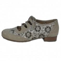 Pantofi dama, din piele naturala, marca Alpina, culoare bej, marimea 36 - Pantof dama