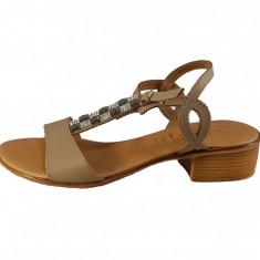 Sandale dama, din piele naturala, marca Otter, culoare bej, marimea 40