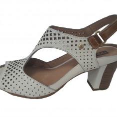 Sandale dama, din piele naturala, marca Pikolinos, culoare bej, marimea 36