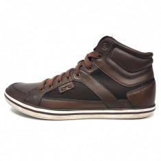 Pantofi sport barbati, din piele naturala, marca Geox, culoare maro, marimea 40 - Pantofi barbat