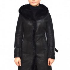 Cojoc dama, din blana naturala, marca Kurban, culoare negru, marimea 5XL
