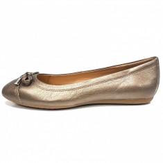Balerini dama, din piele naturala, marca Geox, culoare bronz, marimea 40