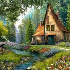 Puzzle Castorland - 2000 de piese - Toadstool Cottage