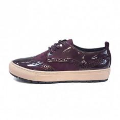Pantofi dama, din piele naturala, marca Geox, culoare bordo, marimea 37 - Pantof dama Geox, Bordeaux