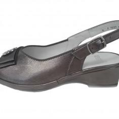 Sandale dama, din piele naturala, marca Ara, culoare bronz, marimea 39