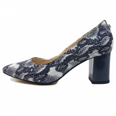 Pantofi dama, din piele naturala, marca Botta, culoare gri, marimea 35