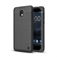 Husa Nokia 2 TPU Grain - Husa Telefon, Negru, Silicon, Carcasa