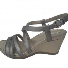 Sandale dama, din piele naturala, marca Geox, culoare bronz, marimea 38