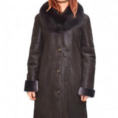 Cojoc dama, din blana naturala, marca Kurban, culoare maro, marimea XL