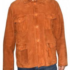 Haina barbati, din piele naturala, marca Kurban, culoare coniac, marimea XL - Geaca barbati