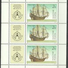 Ungaria 1986 - Stockholmia, vapoare, bloc neuzat