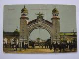 Carte postala Bucuresti - Intrarea in parcul Regele Carol I, Circulata, Printata