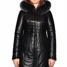 Haina dama dama piele, din piele naturala, marca Kurban, culoare negru, marimea XXL - Geaca dama