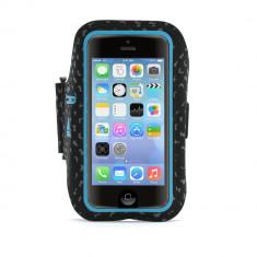 Husa de protectie Griffin Adidas Armband pentru Apple iPhone SE/5S/5/5C, Black/Blue - Husa Telefon Griffin, iPhone 5C, Textil