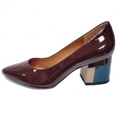 Pantofi dama, din piele naturala, marca Epica, culoare bordo, marimea 40 - Pantof dama Epica, Bordeaux