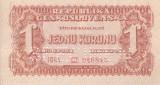 SPECIMEN CEHOSLOVACIA 1 korunu 1944 UNC!!!