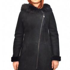 Cojoc dama, din blana naturala, marca Kurban, culoare negru, marimea XL