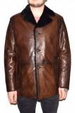 Cojoc barbati, din blana naturala, marca Kurban, culoare maro, marimea XL, Piele